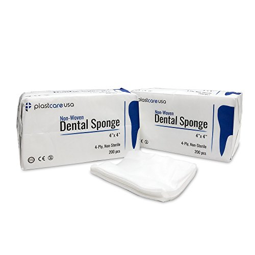 200 4 x 4 Non Woven Sponges 4 Ply, Non-Sterile Dental First Aid Gauze
