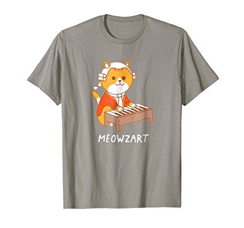 Meowzart Cat T-Shirt Pun Classical Music Piano Funny