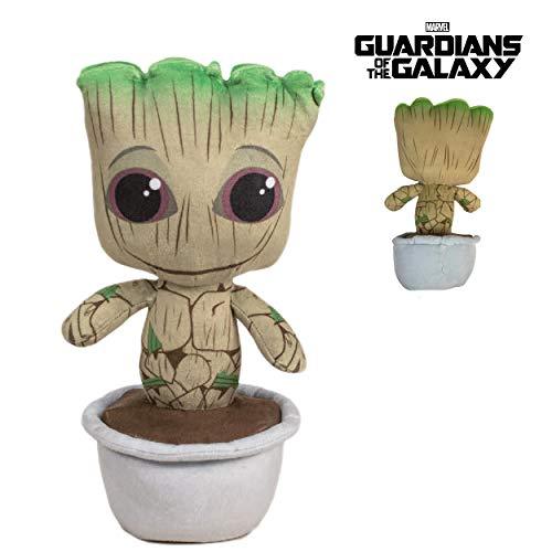 MRVL Guardians of The Galaxy - Plüsch Baby Groot in einem Blumentopf 10'23