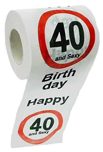 Carta igienica divertente per compleanno, regalo divertente (40 & sexy – 1 rotolo)