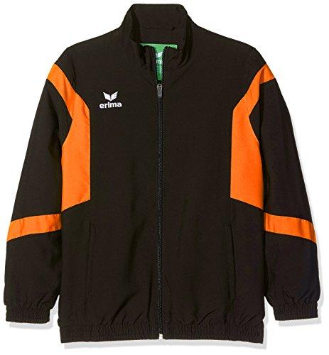 Erima 1016 Veste Classic Team Mixte Enfant, Noir/Orange, FR : XXS (Taille Fabricant : 128 cm)