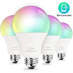 Upgraded Brightness to 1050 Lumens---Compared to normal A19 smart bulbs, 3Stone A21 smart bulb is made of more solid material and with brightness to 1050 lumens which is 30% much brighter to light up your whole room, equivalent to traditional 100W in...