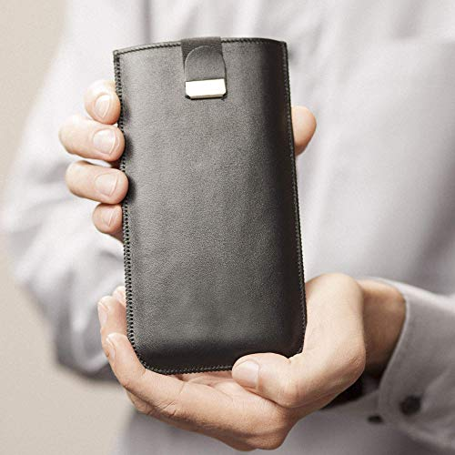 Samsung Galaxy S9 S8 Tasche Hülle Schwarze Handyschale Gehäuse Ledertasche Lederetui Lederhülle Handytasche Handysocke Handyhülle Leder Case Cover Etui Schalle Socke Abdeckung