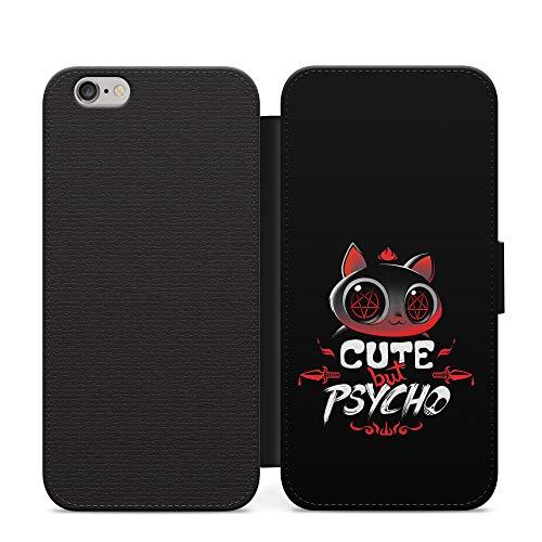 Simple lindo pero psycho niñas cuero cartera teléfono caso y cubierta para Samsung Galaxy S7 borde