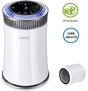INTEY NY-BG55 Purificador de Aire - CARD 140 m3/h, Efectos de Filtración del 99,98%, 25-48 dB, con Desinfección UV e Ioniz...