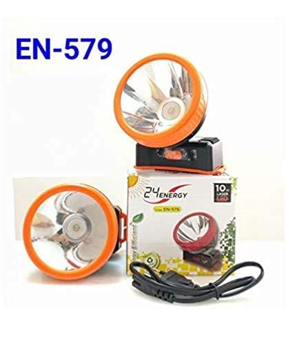 Dwarakesh Enterprises Plastic Rechargeable Head Torch with 1000 mAh Battery, Orange.