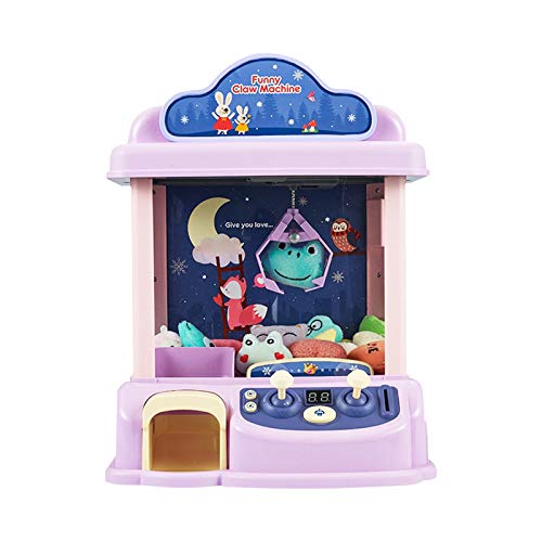 ForBEST Claw Machine Magical Claw Machine with12 Dolls USB Cable Adjustable Music and Volume Best Gift Toy for Kids Purple