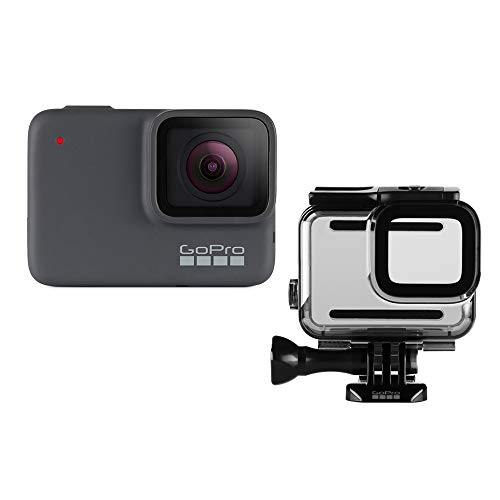 GoPro HERO7 Silver + Protective Housing - Waterproof Digital Action Camera with Touch Screen 4K HD Video 10MP Photos Stabilization