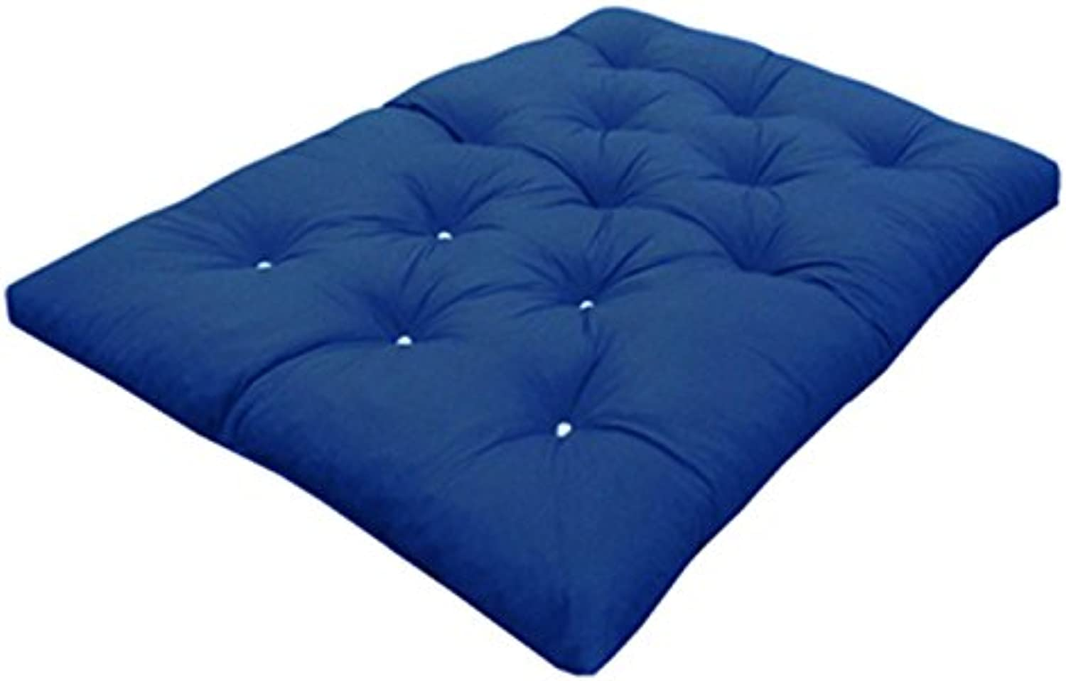 My Layabout Double   2 Seater   Memory Foam Futon Mattress   Roll Out Bed   Guest Bed   Dark bluee   190cm x 125cm   UK Manufactured   9 Colours Available   3