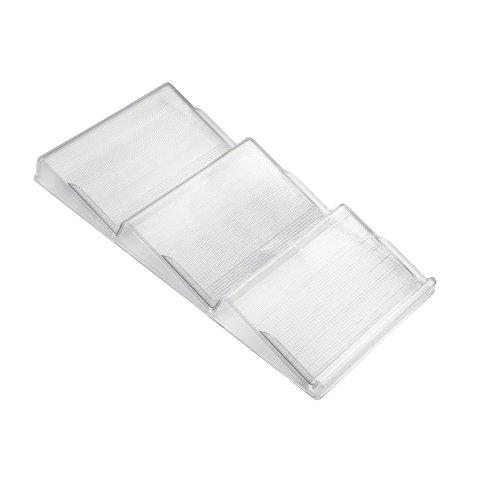 iDesign Gewürzregal für Schublade, Gewürzständer aus Kunststoff für viele Küchenschubladen geeignet, Schubladeneinsatz mit 3 Ebenen, durchsichtig