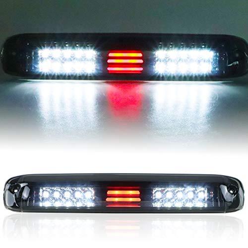 (Smoke) LED Third 3rd Brake Light for 1999-2007 Chevy Silverado GMC Sierra 1500 2500 3500 HD Classic, Reverse Light Rear Cargo Lamp High Mount Stop light