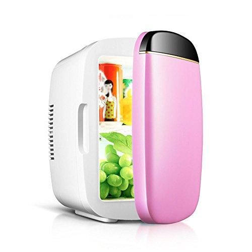 Li@ 6L Voiture boîte Froide Mini frigo Voiture Double Usage Eau réfrigérée Boisson dortoir Portable réfrigérateur (Couleur : Rose)