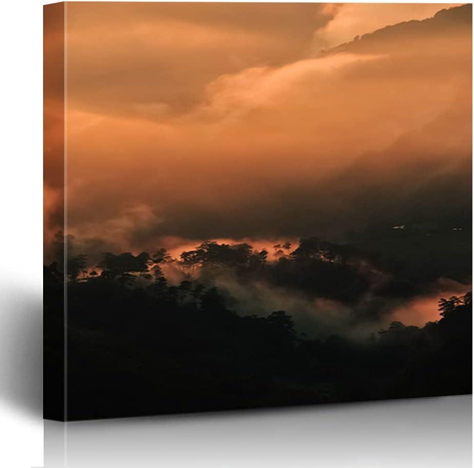 FAREYY Canvas Prints Inspirational Cloud 5 4 years Mail order cheap warranty Decor Art Painti Wall