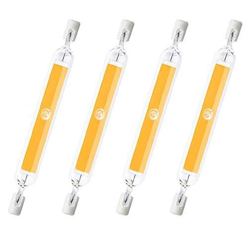 ACXLONG 20W R7S 118mm Bombilla LED Regulable J118 Bombilla reflectora lineal Equivalente 200W Bombillas halógenas Bombillas de foco LED delgadas para lámpara de reflector de techo Paquete de 4