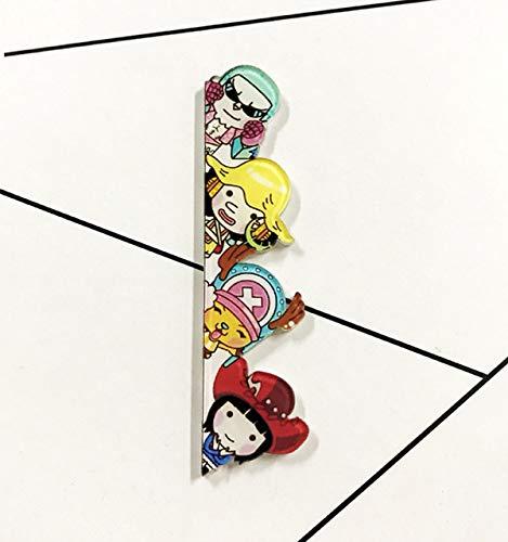 ShAwng Película Japonesa One Piece Monkey D Luffy Chopper Broche Expresión Insignia Pin Icono de Moneda Japón Popular Anime Cosplay Juego de rol, XZ913