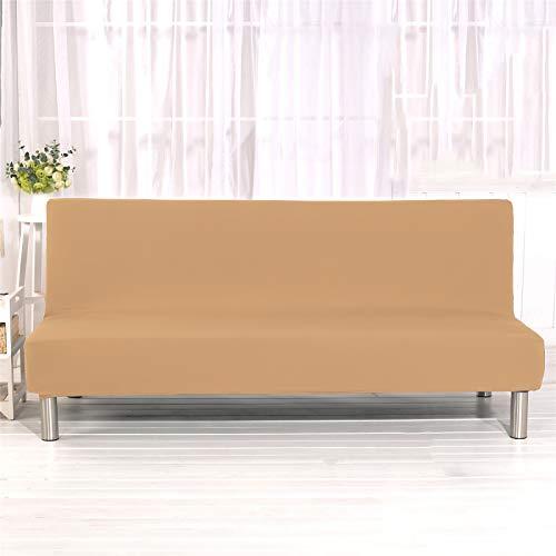 XJHKG Funda Sofa Cama, Universales Plegable Funda De Sofá Futón Couch Clic Clac Cubre Sofá Sin Brazos (Camello,Large)