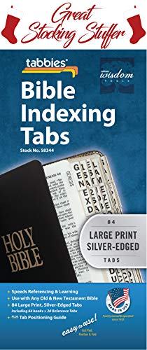 Large Print Bible Indexing Tabs - Silver: Bible Indexing Tabs