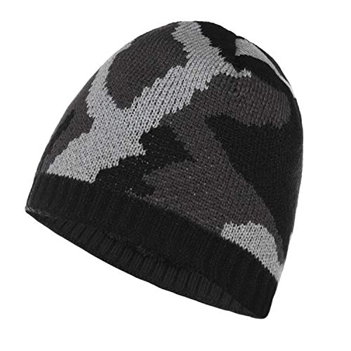 iClosam Mannen gebreide muts wintermuts camouflage lange beanie muts dikke warme camouflage muts, één maat