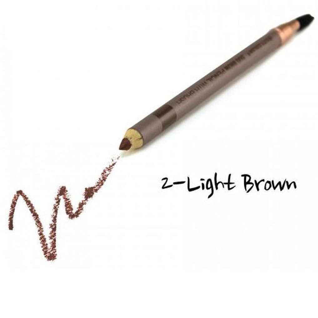 バック吸収剤休暇(3 Pack) CITY COLOR Duo Brow Pencil With Brush - Light Brown (並行輸入品)