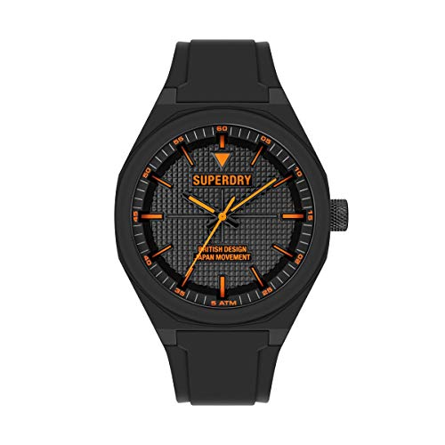Superdry Reloj Analógico para Hombre de Cuarzo con Correa en Silicona SYG324B