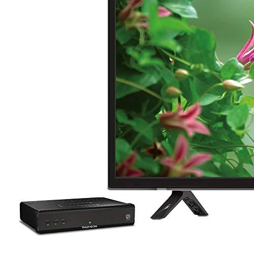 THOMSON THS210 digitaler HD Satelliten Receiver mit 3 Jahre Garantie (Free to Air, DVB-S2, HDTV, HDMI, SCART, USB, Koaxialausgang) schwarz