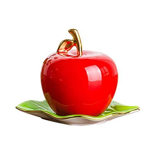 WANBAO Sencillez Soporte de palillo de Dientes Moda de Manzana Cerámica Cerámica Sala de Estar Titro Palk Far Decoración Adornos (Color: Verde) (Color : Red)
