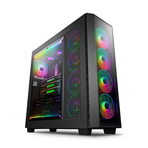anidees AI Crystal XL PRO RGB Full Tower Tempered Glass XL-ATX/E-ATX/ATX Gaming Case Support 480/360 Radiator, Optical Drive, Includes RGB 120×5 PWM Fans / LED Stripsx2 – AI-XL-PRO-RGB (PC Case ONLY)