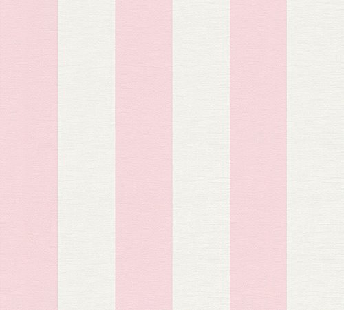 A.S. Création Vliestapete Liberté Tapete Landhaus Shabby Chic 10,05 m x 0,53 m rosa weiß Made in Germany 314086 3140-86