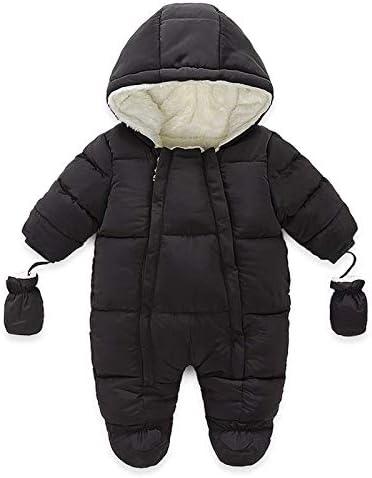 Eyiou Unisex Baby Winter Snowsuit Coat Romper Baby Girl Boy Outwear Winter Hoodied Footie Jumpsuit product image
