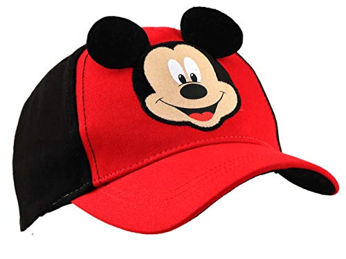Disney Toddler Boys' Mickey Mouse Character Baseball Cap, Red/black, Ages 2-4