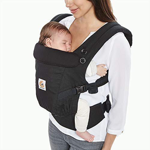 Ergobaby Adapt Ergonomic Multi-Position Baby Carrier (7-45 Pounds), Black