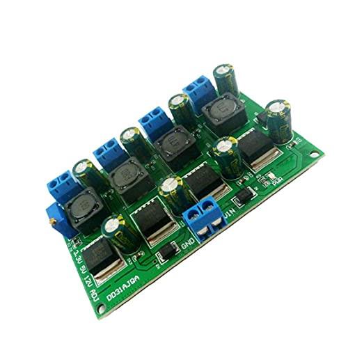 PATO ABAJO MÓDULO DE POTENCIA MULTIHANAL 3A 3A Salida ajustable 3.3V 5V 12V Buck convertidor para voltaje reducido precisión azul