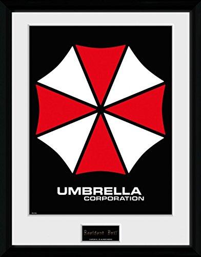 1art1 Resident Evil - Umbrella Gerahmtes Bild Mit Edlem Passepartout | Wand-Bilder | Kunstdruck Poster Im Bilderrahmen 40 x 30 cm