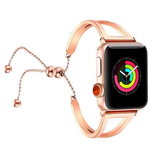 Compatible con Iwatch 40mm 38mm Band para Mujer, Pulsera de Diamantes de imitación Brillante, Pulsera de Acero Inoxidable para Apple Watch Band Ajustable