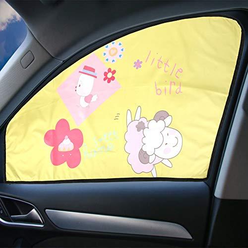 Auto Seite Fenster Sonnenschutz Universal Cartoon Schafe Magnetische Versenkbare Klapp Auto Vorhang Fenster Schatten Sonnenlicht Schutz für mit Sonne Schutz