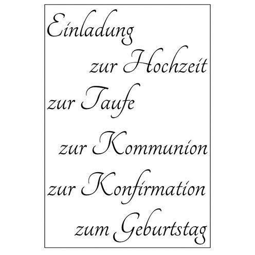 Efco Stempel Clear Einladung 2, transparent, A7/ 74 x 105 mm, 6-teilig