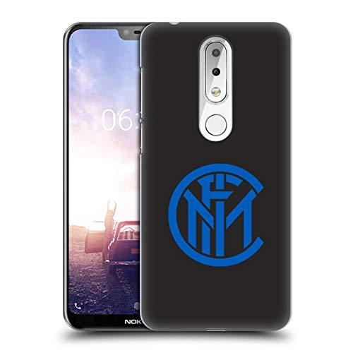 Head Case Designs Licenza Ufficiale Inter Milan Pianura Grafici Cover Dura per Parte Posteriore Compatibile con Nokia X6 / 6.1 Plus