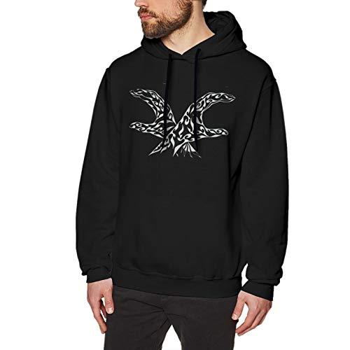OJPOGHU Les Twins Mens Hoodies Long Sleeve T-Shirt Pullover Hooded Sweatshirt Black Small