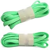 Friendshiy cordones ovalados para zapatillas deportivas semiredondas, (22 Apple Green), 140