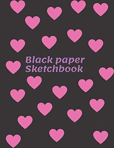 Black paper Sketchbook: lack Pages Glossy