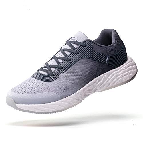 ONEMIX Zapatillas de Deporte Hombres Running Zapatos para Correr Gimnasio Sneakers Deportivas Transpirables Casual 1361 Grey 45