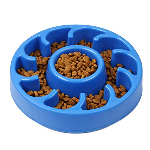 GuguLove Anti Gulping Fun Feeder Slow Feed Interactive Bloat Stop Dog Bowls Pet - Drawers Pouch Bowls Water Lick Mess Feed Fountain Pans Table Station Cabinet Enrichment Disk Stands Bow