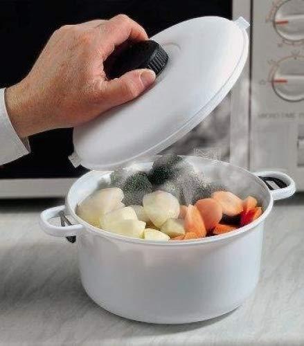 Microondas-olla a presión para microondas. Cacerola con tapa de cierre y liberación de presión para ventilación