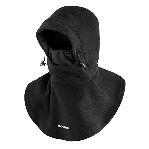 ROCK BROS Ski Mask Winter for Men Thermal Fleece Cycling Mask Windproof Balaclava Face Cover Women for Snowboarding Skiing Motorcycle Outdoor Sports Black