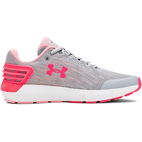 Under Armour Girls' Grade School Charged Rogue Sneaker, Mod Gray (102)/White, 5