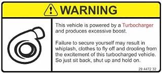 Slap-Art Warning This Vehicle is turbocharged Funny Joke JDM Vinyl Decals Bumper Stickers