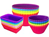 Silicone Cupcake Liners Baking Cups Non-Stick Jumbo...
