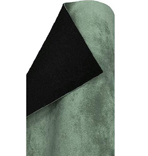 A-Express morbido tessuto velluto finta pelle Scamosciata Sartoria Rivestimento indietro Materiale - Azzurro 1 Metro 100cm x 145cm