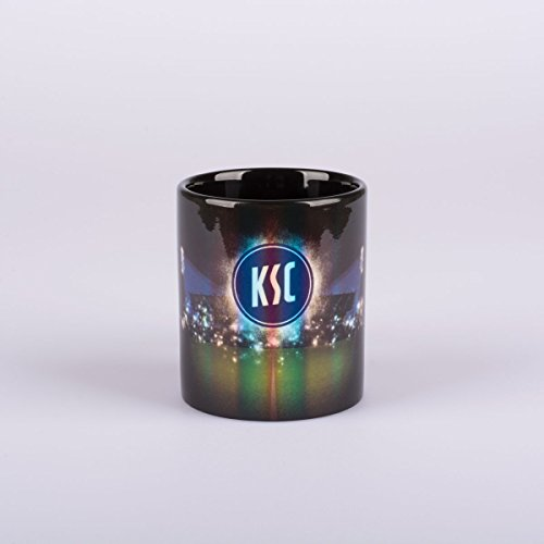 Karlsruher SC Tasse - Metallic - Kaffeetasse, Kaffeebecher, Mug KSC - Plus Lesezeichen Wir lieben Fußball