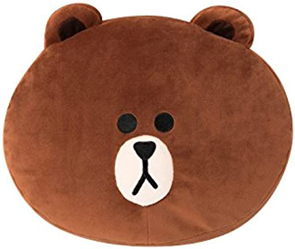 LINE FRIENDS Soft Nap Cushion Brown Character Throw Pillow 12in Brown